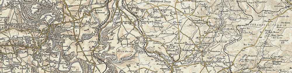Old map of Woodtown in 1899-1900