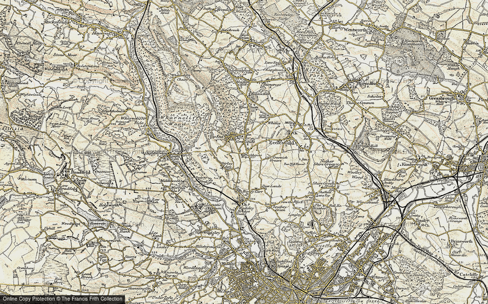 Old Map of Grenoside, 1903 in 1903