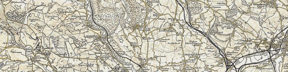 Old map of Grenoside in 1903