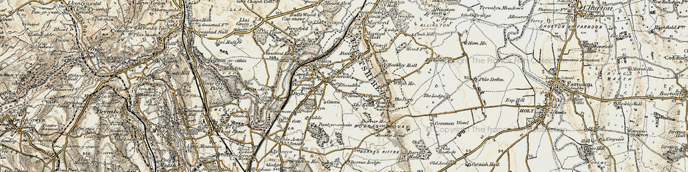 Old map of Gresford in 1902-1903