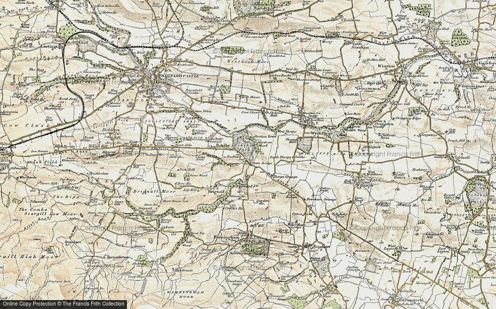 Old Map of Greta Bridge, 1903-1904 in 1903-1904