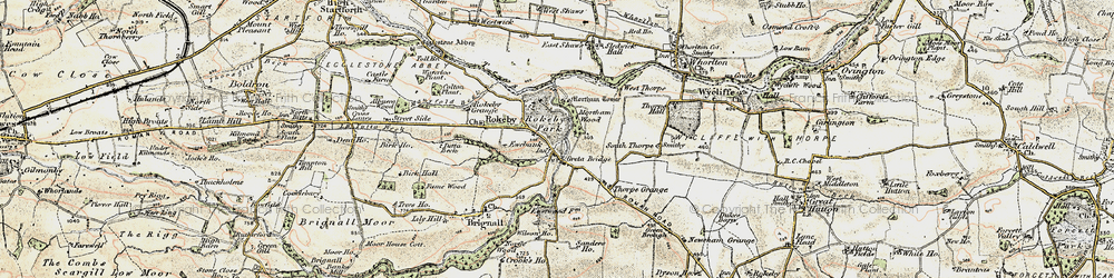 Old map of Rokeby Park in 1903-1904