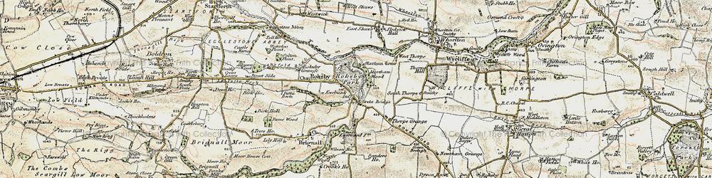 Old map of Greta Bridge in 1903-1904