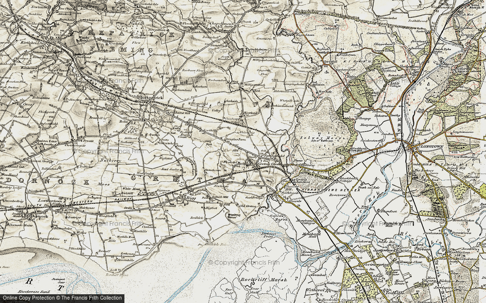Old Map of Gretna Green, 1901-1904 in 1901-1904
