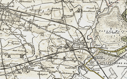 Old map of Gretna Green in 1901-1904
