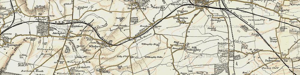 Old map of Wilsford Warren in 1902-1903