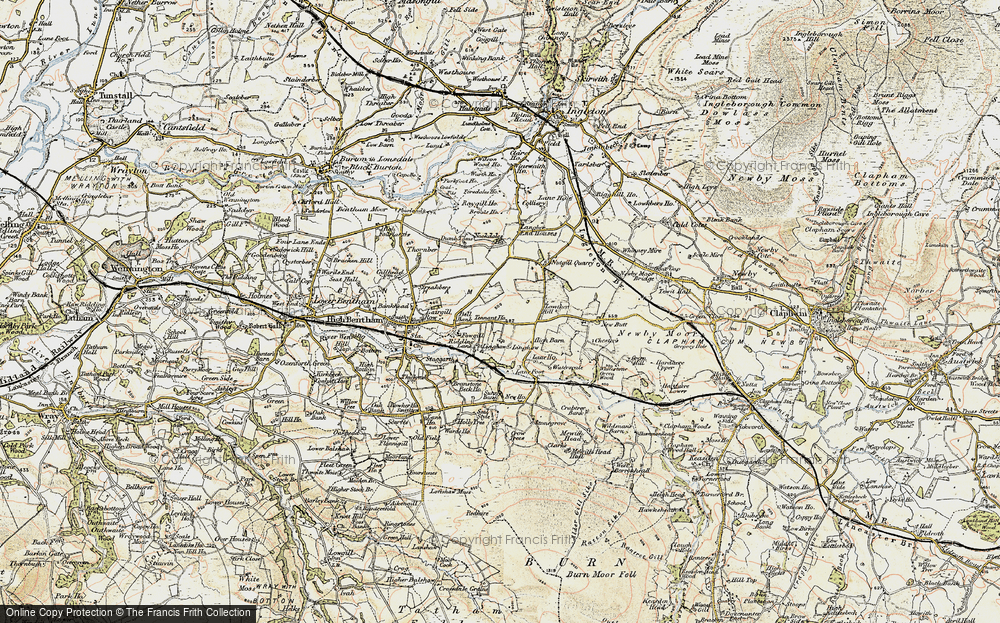 Old Map of Historic Map covering Langber in 1903-1904