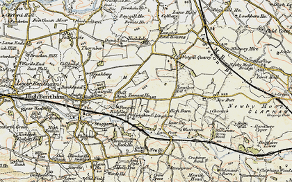 Old map of Langber in 1903-1904