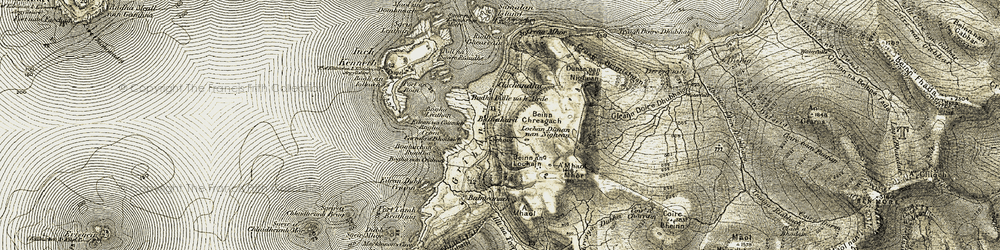 Old map of A' Mhaol in 1906-1908