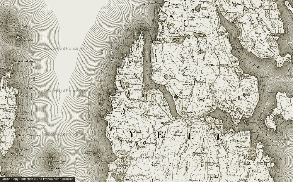 Old Map of Historic Map covering Lee of Vollister in 1912
