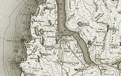 Old map of Lee of Vollister in 1912