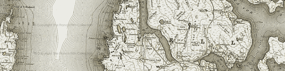 Old map of Whale Firth in 1912