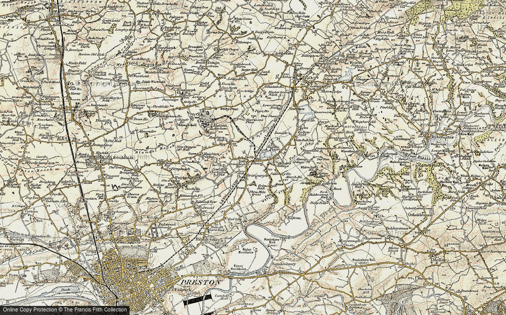 Old Map of Historic Map covering Alston Wood in 1903-1904