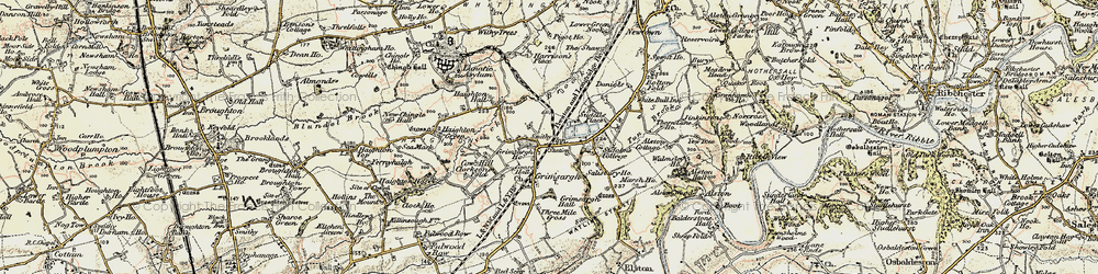 Old map of Alston Hall in 1903-1904