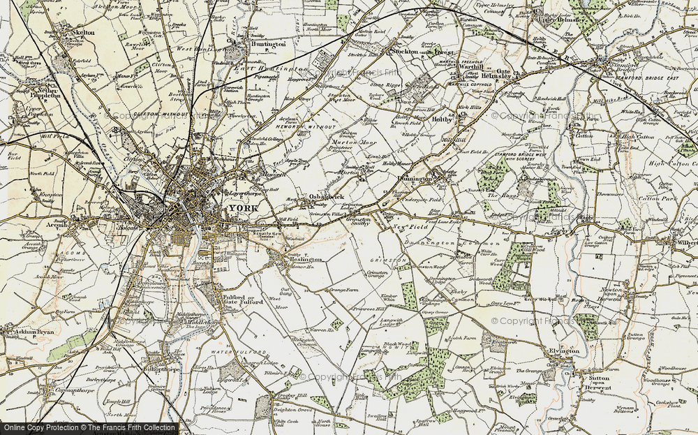 Old Map of Historic Map covering Langwith Lodge in 1903