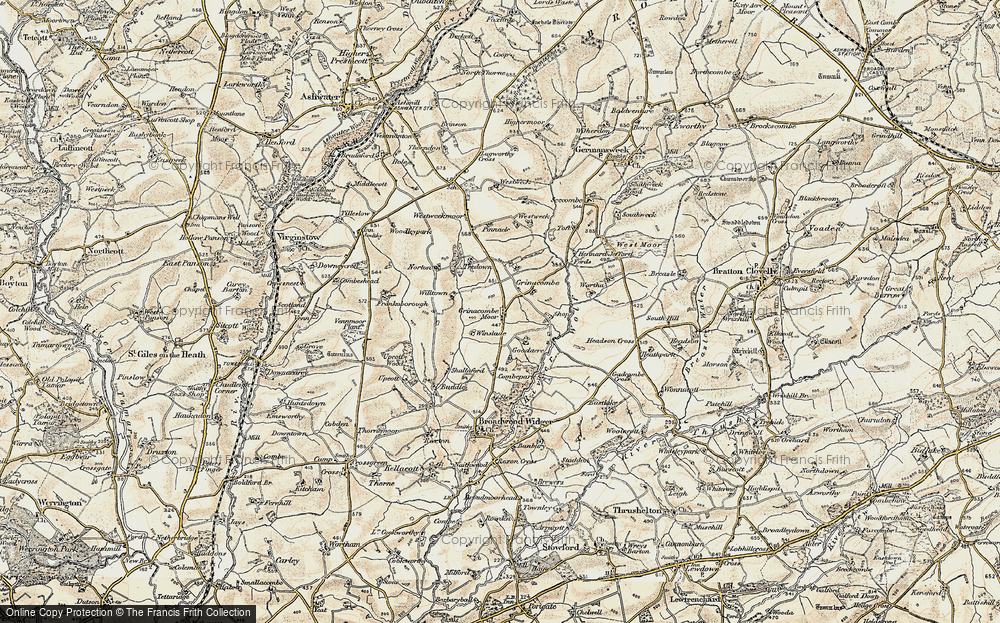 Old Map of Historic Map covering Toft in 1900