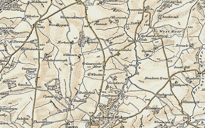 Old map of Winslade in 1900