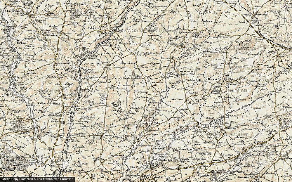 Grinacombe Moor, 1900