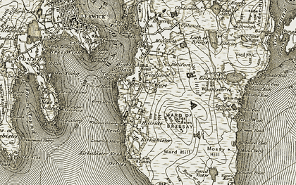 Old map of Yellow Head in 1912