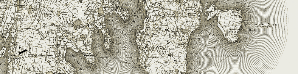 Old map of Whinna Skerry in 1912