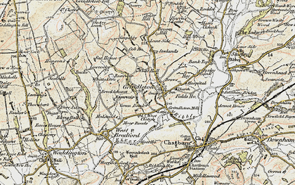 Old map of Asker Hill in 1903-1904