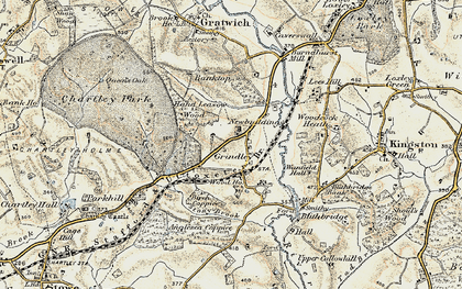 Old map of Leese Hill in 1902