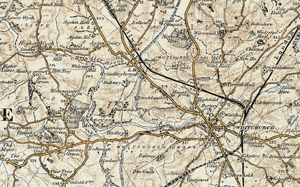 Old map of Agden Ho in 1902