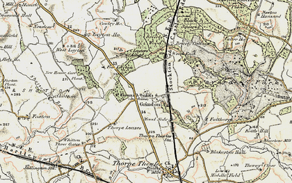 Old map of Woodend in 1903-1904