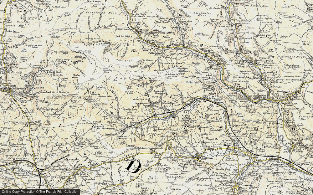 Old Map of Historic Map covering Wood Moor in 1903