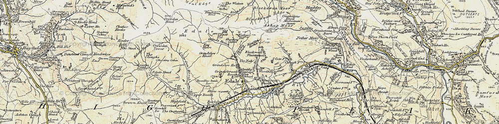 Old map of Wicken, The in 1903