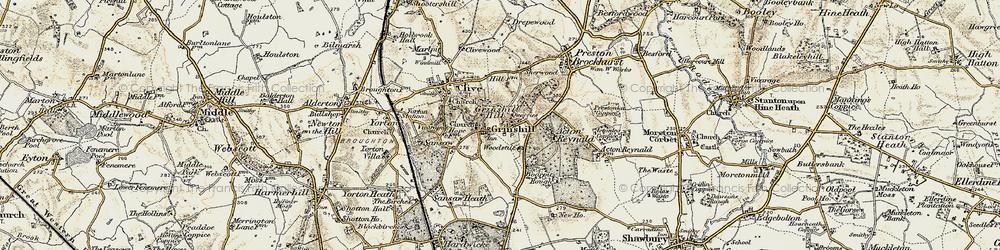 Old map of Woodstile in 1902