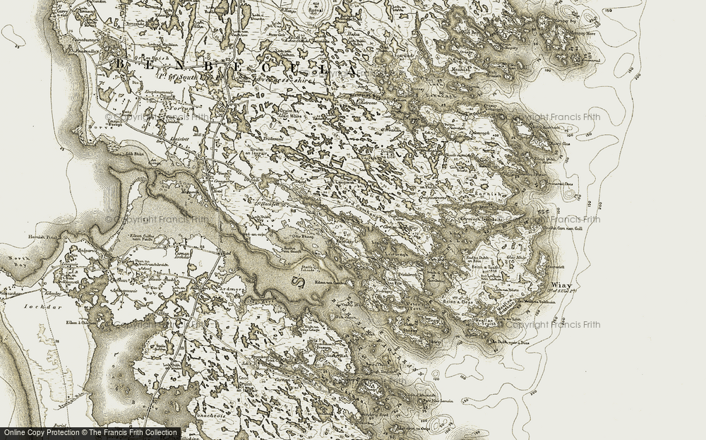 Old Map of Historic Map covering Àird Cumhang in 1911