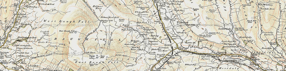Old map of Aisgill Moor in 1903-1904