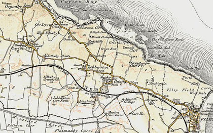 Old map of Gristhorpe in 1903-1904