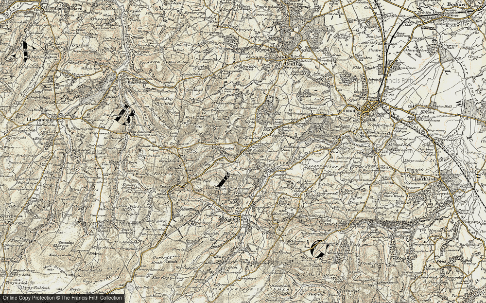 Old Map of Historic Map covering Afon Ystrad in 1902-1903