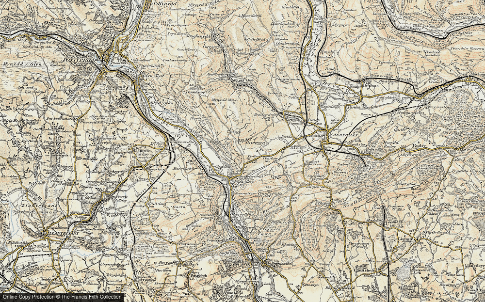 Old Map of Groes-wen, 1899-1900 in 1899-1900