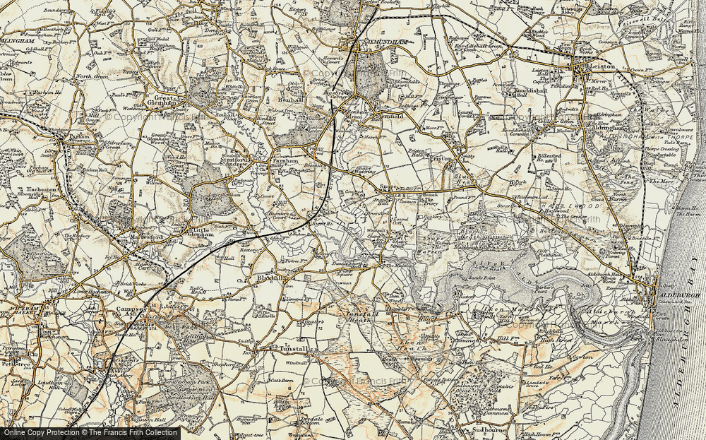 Old Map of Historic Map covering Langham Br in 1898-1901