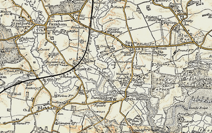 Old map of Langham Br in 1898-1901