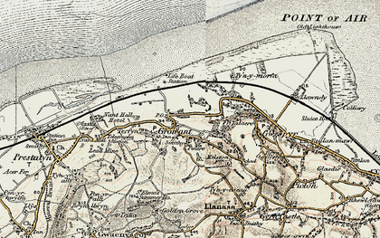 Old map of Gronant in 1902