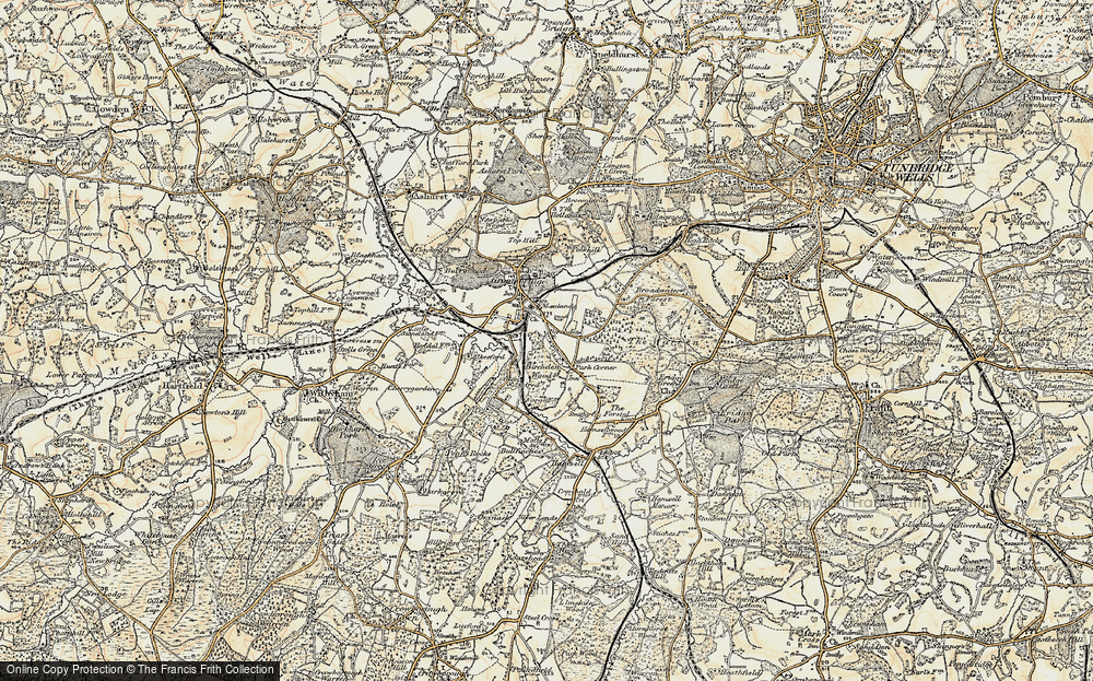 Old Map of Historic Map covering Lealands in 1897-1898