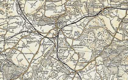 Old map of Lealands in 1897-1898