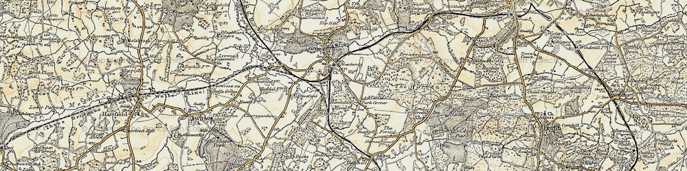 Old map of Groombridge in 1897-1898