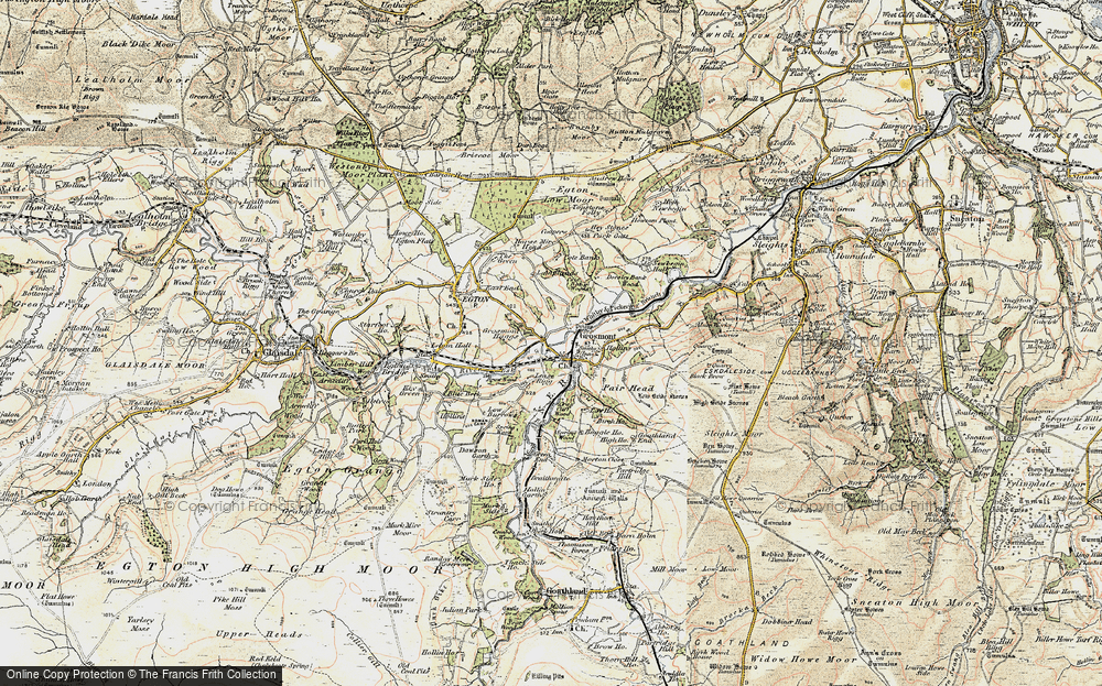 Old Map of Grosmont, 1903-1904 in 1903-1904