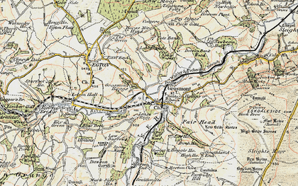 Old map of Grosmont in 1903-1904