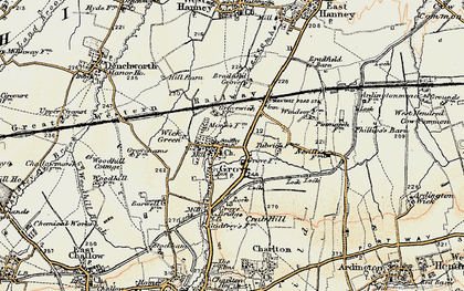 Old map of Grove in 1897-1899