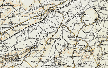 Old map of Grove in 1898-1899