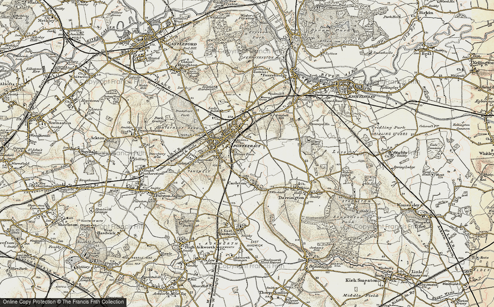 Old Map of Historic Map covering Baghill Sta in 1903
