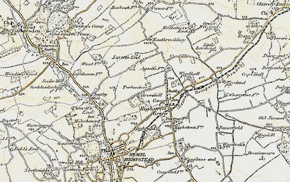 Old map of Grovehill in 1898