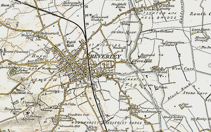 Old map of Westwood in 1903-1908