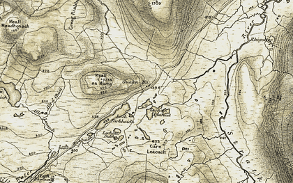 Old map of Allt a' Chuil in 1910